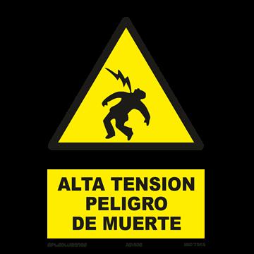 Señal: Alta tension peligro de muerte