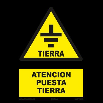 Señal: Atencion puesta tierra