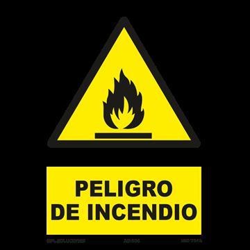 Señal: Peligro de incendio
