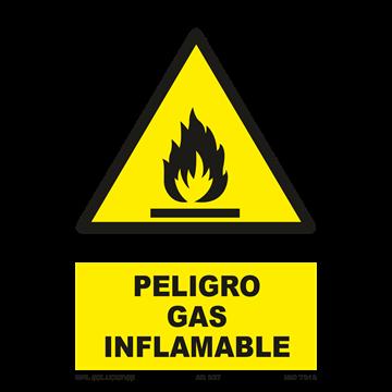 Señal: Peligro gas infamable