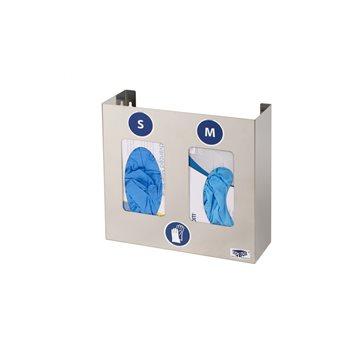 Dispensador inox para guantes para 2 cajas