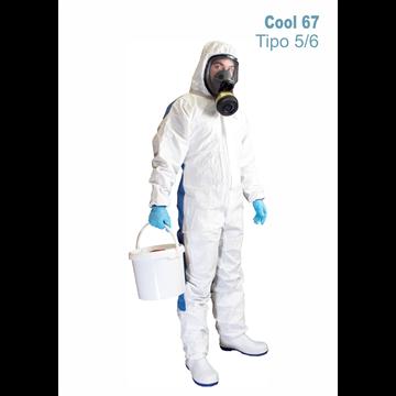 Mono COOL 67 TIPO 5/6 Blanco y Azul en espalda.