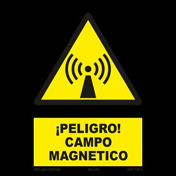 Señal: ¡Peligro! Campo magnetico