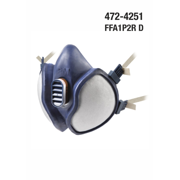 Máscaras 3M Serie 4000: Sin mantenimiento para Gases y Vapores