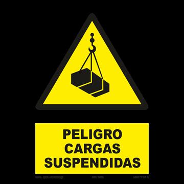 Señal: Peligro cargas suspendidas