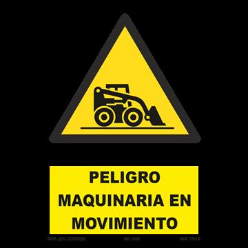 Señal: ¡Peligro! Maquinaria en movimiento