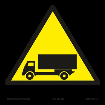 Señal: ¡Peligro! Salida de camiones