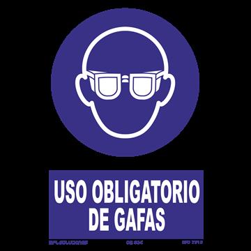Señal: Uso obligatorio de gafas