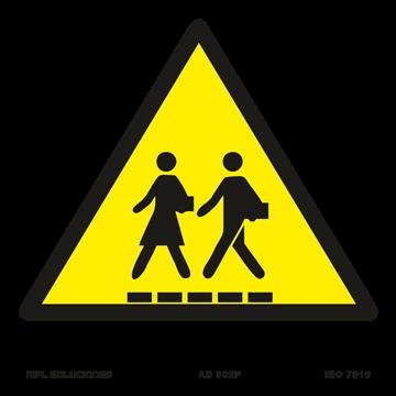 Señal: Atención paso de personas