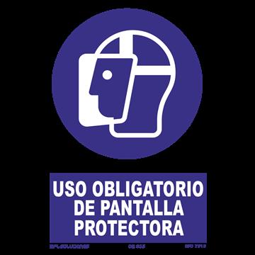 Señal: Uso obligatorio de pantalla protectora