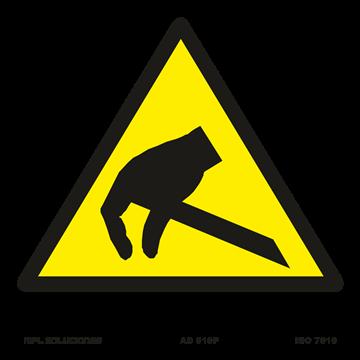 Señal: Peligro campo electroestatico