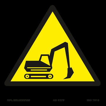 Señal: Maquinaria pesada en movimiento