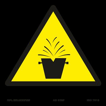 Señal: ¡Atencion! Riesgo de salpicaduras