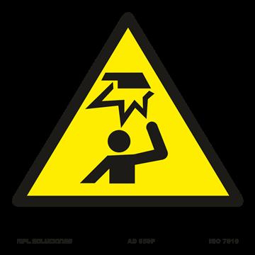 Señal: Peligro objetos fijos a baja altura