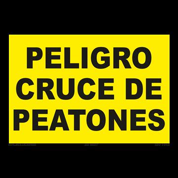 Señal: Peligro cruce de peatones