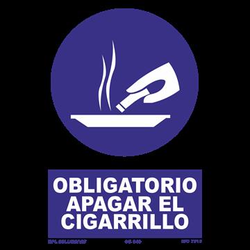 Señal: Obligatorio apagar el cigarrillo