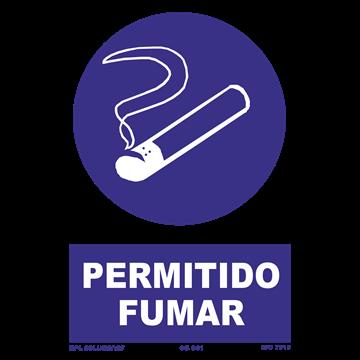 Señal: Permitido fumar