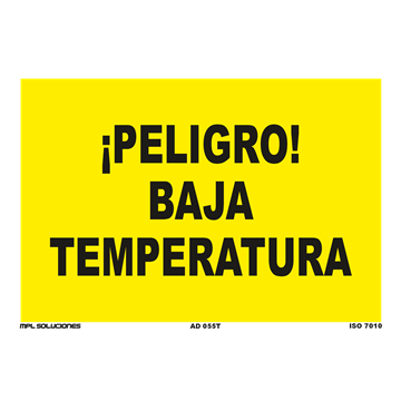 Señal: ¡Peligro! Baja temperatura