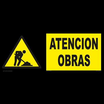 Señal: Atención obras