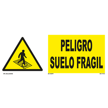 Señal: Peligro suelo fragil