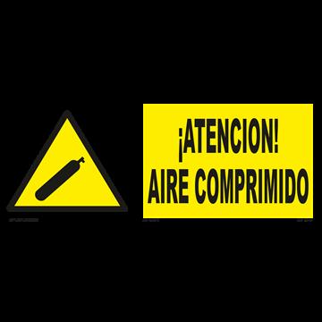 Señal: ¡Atencion! Aire comprimido