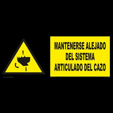 Señal: Mantenerse alejado del sistema articulado