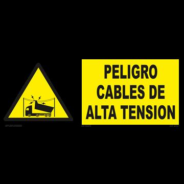 Señal: Peligro cables de alta tension