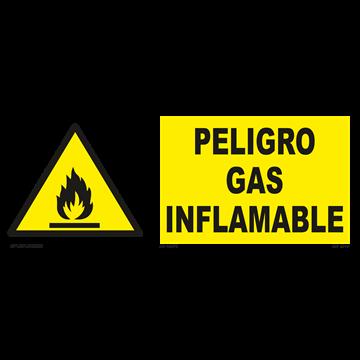 Señal: ¡Peligro! Botella de gas
