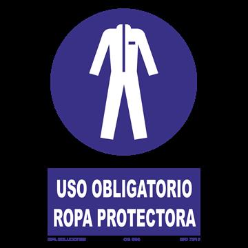 Señal: Uso obligatorio ropa protectora