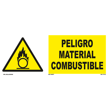 Señal: Peligro material combustible