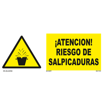 Señal: ¡Atencion! Materiales inflamables