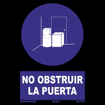 Señal: No obstruir la puerta