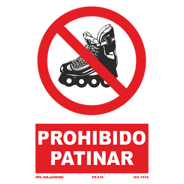 Señal: Prohibido patinar