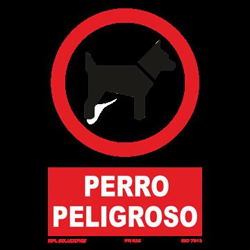 Señal: Perro peligroso