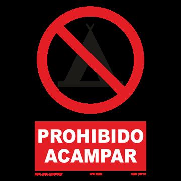 Señal: Prohibido acampar