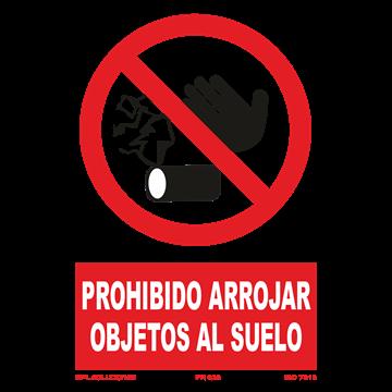 Señal: Prohibido arrojar objetos al suelo
