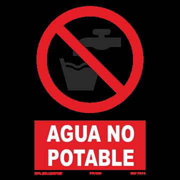 Señal: Agua no potable