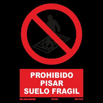 Señal: Prohibido andar sobre los rodillos