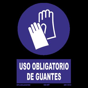 Señal: Uso obligatorio de guantes