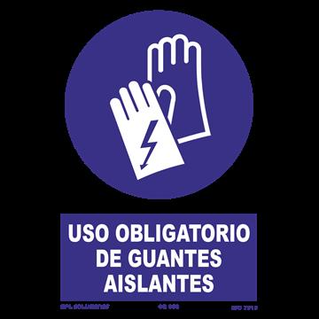 Señal: Uso obligatorio de guantes aislantes