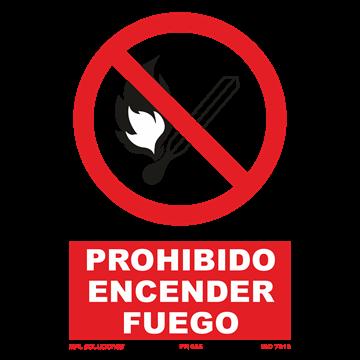 Señal: Prohibido encender fuego