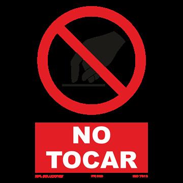Señal: No tocar
