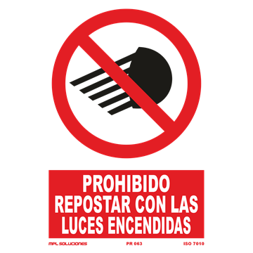 Señal: Prohibido repostar con las luces encendidas