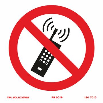 Señal: Prohibido el uso de telefonos moviles