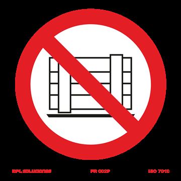 Señal: Prohibido el paso a carretillas