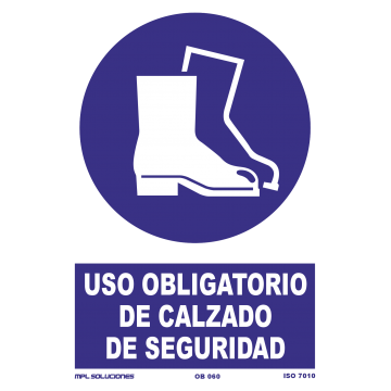 Señal: Uso obligatorio de calzado de seguridad