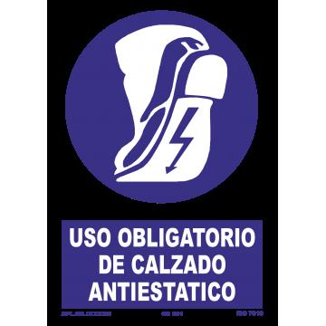 Señal: Uso obligatorio de calzado antiestatico