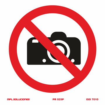 Señal: Prohibido camaras fotograficas