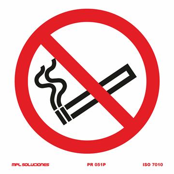 Señal: Prohibido fumar