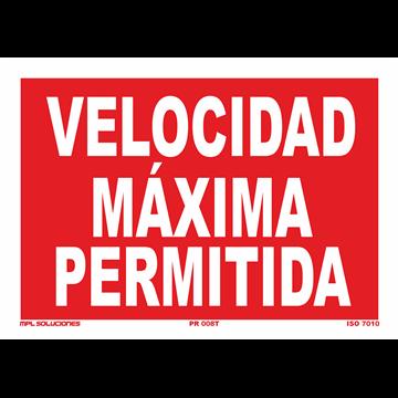Señal: Velocidad maxima permitida
